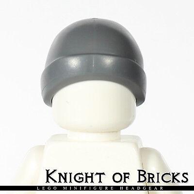 Lego Minifig Short Dark GRAY CAP HAIR Man Grandpa Male