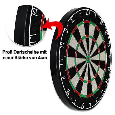 Profi Dartscheibe inkl. 6 MVG Dartpfeile Steeldart Dartboard Dart Sisal Scheibe 3