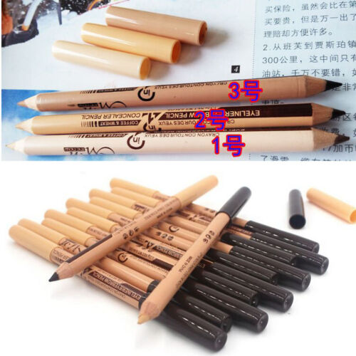 12 in 1 Double Head Eyeliner Eyebrow Pencil SET Make up Tool Concealer Function 6