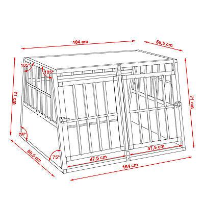 XXL Cage box caisse trapézoïdal de transport voyage pour chien mobile aluminium 7