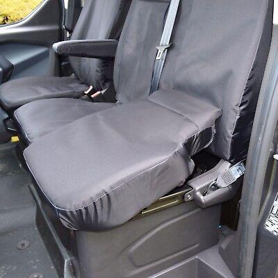 S- tech automotive Transit 2013 Custom 2.2 TDCI Black Single Seat Cover Water Resistant Heavy Duty Durable