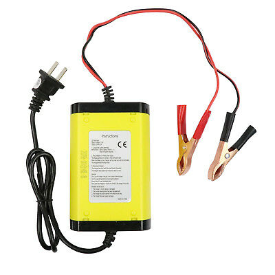 Car Motorcycle Battery Charger 12V 6A Full Automatic 3 Stages Lead Acid AGM AMS
