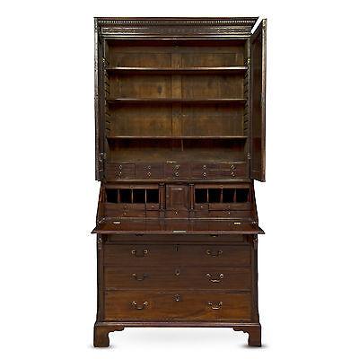 George Iii Period Mahogany Bureau Bookcase 2