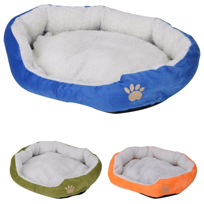 Deluxe Warm Soft Washable Dog Cat Pet Warm Basket Bed Cushion with Fleece Lining 7