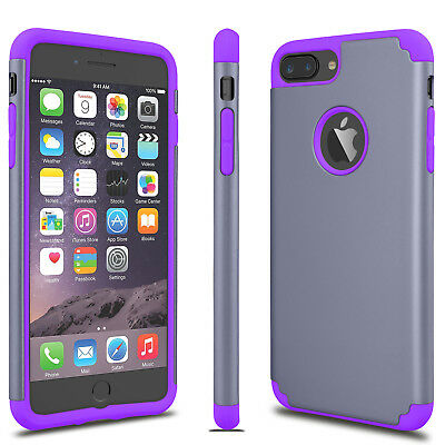 For iPhone 6S 7/8 Plus + Phone Case Luxury Shockproof Rugged Rubber Hard Cover 5
