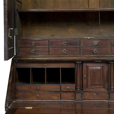 George Iii Period Mahogany Bureau Bookcase 3