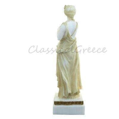 """Statue Ancient Greek Goddess Demeter Alabaster 9"""" - 23cm Cast Marble Mythology 4"""