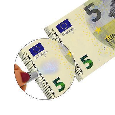 EAXUS® Geheimstift Geldscheinprüfer Zauberstift UV Tinte unsichtbar Schwarzlicht 4