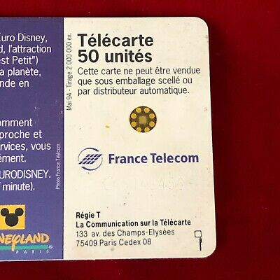 France Telecom Euro Disneyland Paris 1992 Small World Collectable Phone Card 5