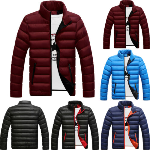 c1dca7b5e MENS PADDED BUBBLE Coat Hooded Quilted Puffer Jacket Warm Winter ...