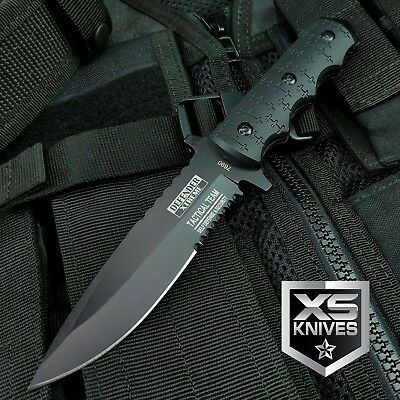 "9"" Navy SEALs Tactical Combat Bowie Knife w/SHEATH Military Fixed Blade Survival 2"
