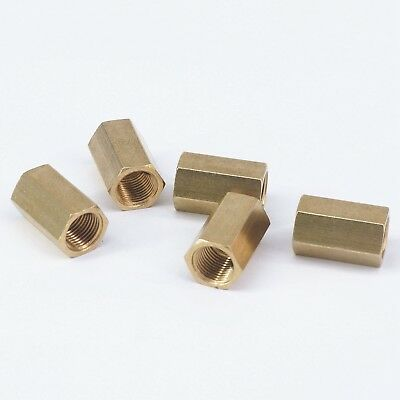 """LOT 20 Brass Hex Lock Nuts Pipe Fitting 1//2/"""" BSP Female Thread 3mm Thickness"""