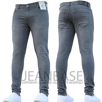 New Boys Kids Enzo Dark Designer Stretch Skinny/Slim Fit Denim Chino Jeans Bnwt 2