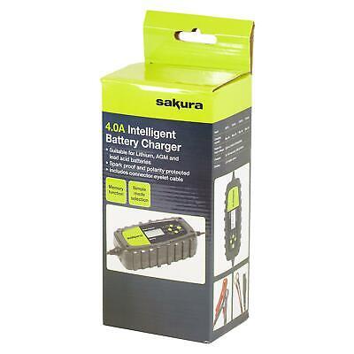 Sakura Smart Intelligent Battery Charger 6v 12v Lithium, AGM & Lead Acid 230v 3