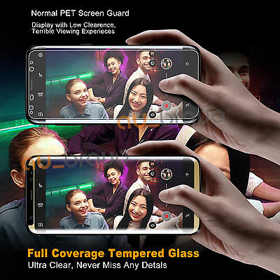 For Samsung Galaxy S9 S8Plus Note8 4D Full Cover Tempered Glass Screen Protector 4