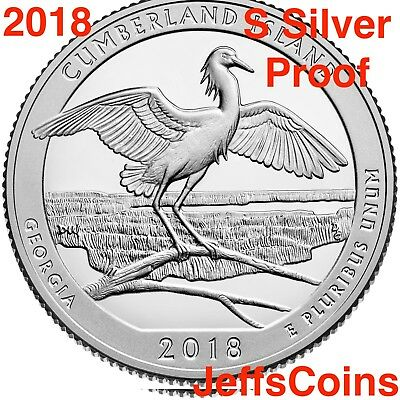 2018 S Block Island National Seashore 90% Silver Proof Park Quarter US.Mint 8