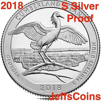 2018 S REVERSE Cumberland Island National Seashore 90% Silver Proof Park Quarter 2
