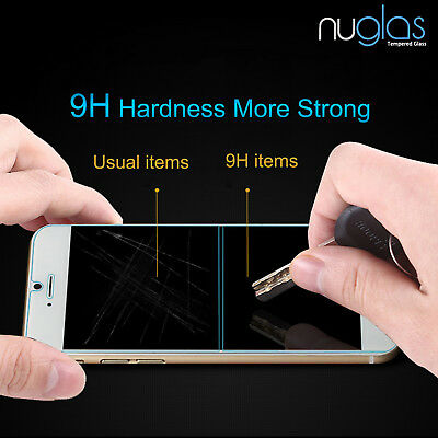 2 x GENUINE NUGLAS Tempered Glass Screen Protector For Apple iPhone X 9