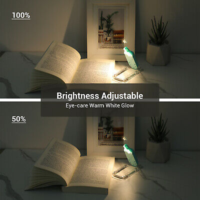 DEWENWILS LED USB Rechargeable Book Light for Reading in Bed Warm White HBRL01B 3