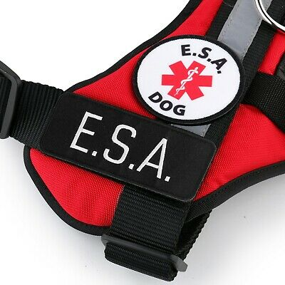 ESA Emotional Support Animal Vest Support Dog Harness - No Pull Handle ID Pocket 5