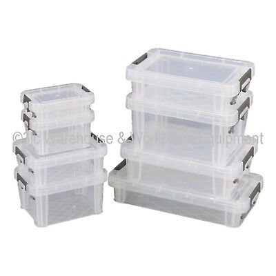 NEW Allstore Commercial Quality Clear Plastic Storage Box Boxes & Lids 33 Sizes 3