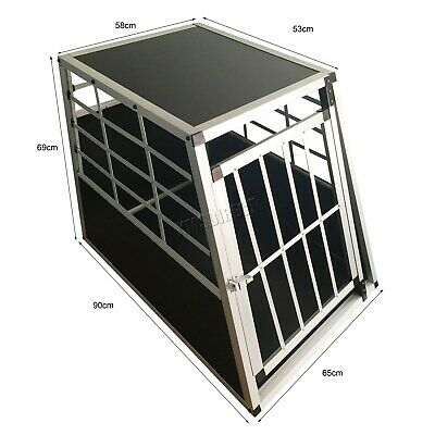 FoxHunter Aluminium Dog Pet Puppy Cage Kennel Travel Transport Crate Carrier BOX 11