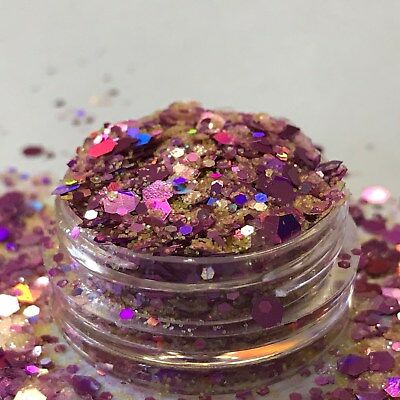 Chunky Glitter Loose Mix Pot Eye Shadow Nail Face Tattoo Festival Club Cosmetic 9