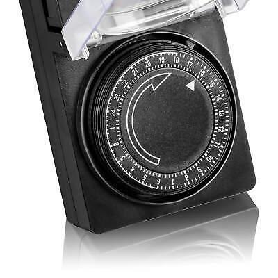 2x Zeitschaltuhr Außen IP44, analog, mechanisch, 24h Timer, für Steckdose SEBSON 4