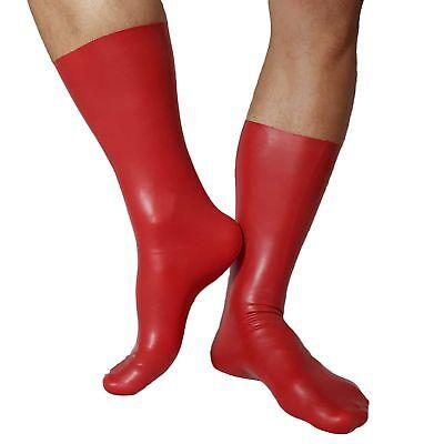 Latex Socken aus Rubber in rot, Einheitsgröße 4