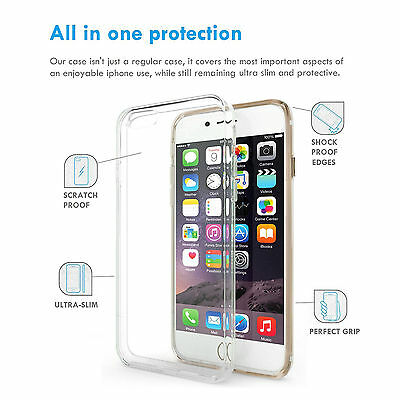 Ultra-Thin Clear Soft Silicone TPU Transparent Case Cover For iPhone 6S 7Plus XR 3