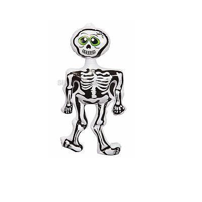 6 X Gruselig Halloween Requisite Aufblasbares Skelett Deko Spukhaus Spaß Party 3