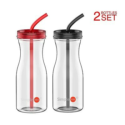 33OZ Big Tritan Water Bottle With Straw BPA Free Cold/Warm Drink ( 7 colors ) 11