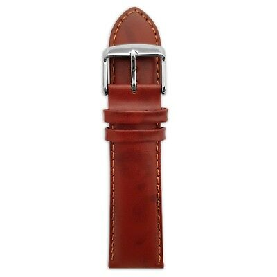 Genuine English Calf Grain Leather Watch Strap Band Mens Padded SS Buckle