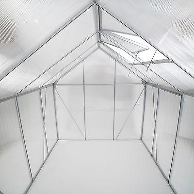 Invernadero de jardín policarbonato con base vivero casero plantas cultivos 7,7m
