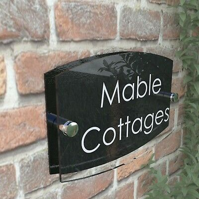 Contemporary House Sign Plaque Door Numbers 1 - 999 Personalised Name Address 4