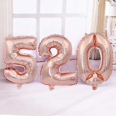 """32''/40"""" Number Shape Helium Foil Ballons Wedding Party Balloons Birthday Decors 5"""