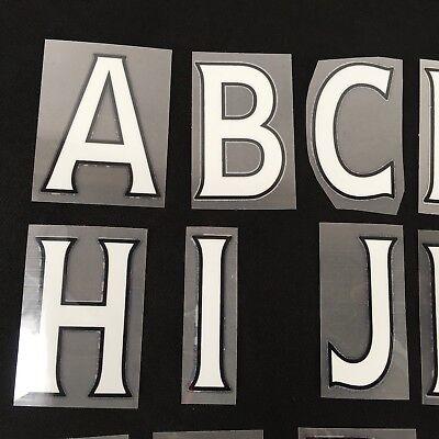 Official Premier League Football Shirt Letters Player Name Alphabet White T242-1 2