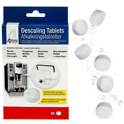 6 x Cleaning Descaling Tablets for AEG Electrolux Zanussi Coffee Machine Makers 2