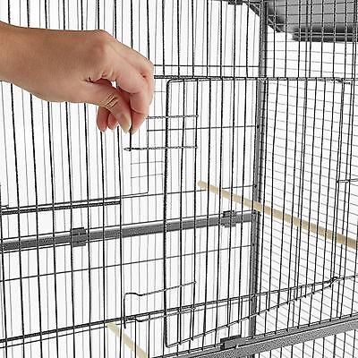 Volière cage à oiseaux sur roulettes perruches perroquets spacieux 168x85x60 cm 4