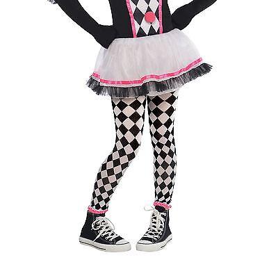 Wig Girls Circus Sweetie Clown Harlequin Jester Halloween Fancy Dress Costume