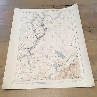 Vintage Original 1936 Maine Penobscot County Orono ME USGS Quadrangle Map 2