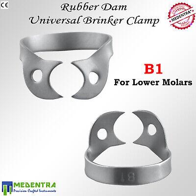 MEDENTRA 6PCS Dental Rubber Dam Clamps Brinker Clamp Tissue Premolar Clamp Molar 2