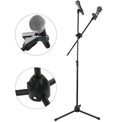 Professional Boom Microphone Mic Stand Holder Adjustable With Free Clips New 5