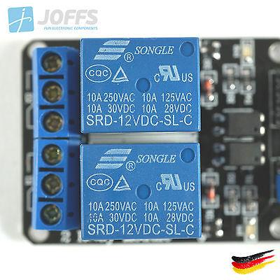 Arduino 2Ch High//Low Trigger 2-Kanal 5V Relais Modul mit Optokoppler für u.a