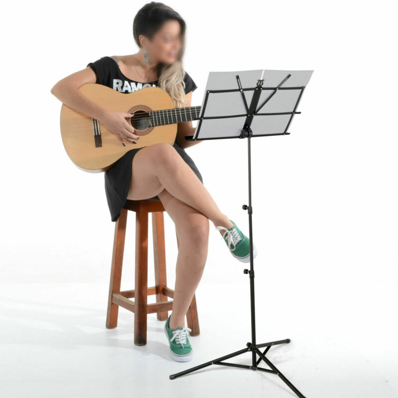 Heavy Duty Foldable Music Stand Holder Base Tripod Orchestral Conductor Sheet Uk 10