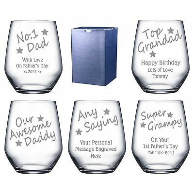Personalised Engraved Birthday 1st Christmas Day Daddy Dad Grandad Gramps Gift