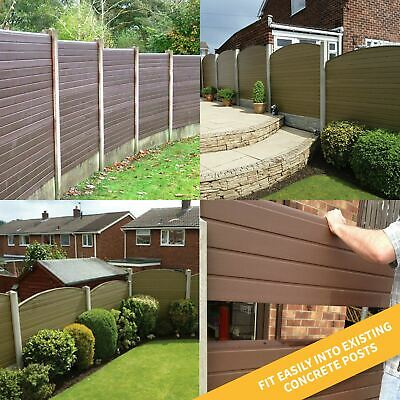 Plastic Composite Fence Boards Eco Fencing Replacement uPVC Garden Panels & Post 5