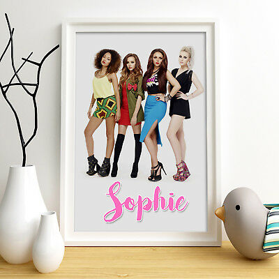 LITTLE MIX Personalised Poster A5 Print Wall Art Custom Name ✔ Fast Delivery ✔ 2