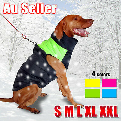 Large Dog Jacket Padded Waterproof Pet Clothes Warm Windbreaker Vest Coat Winter 2