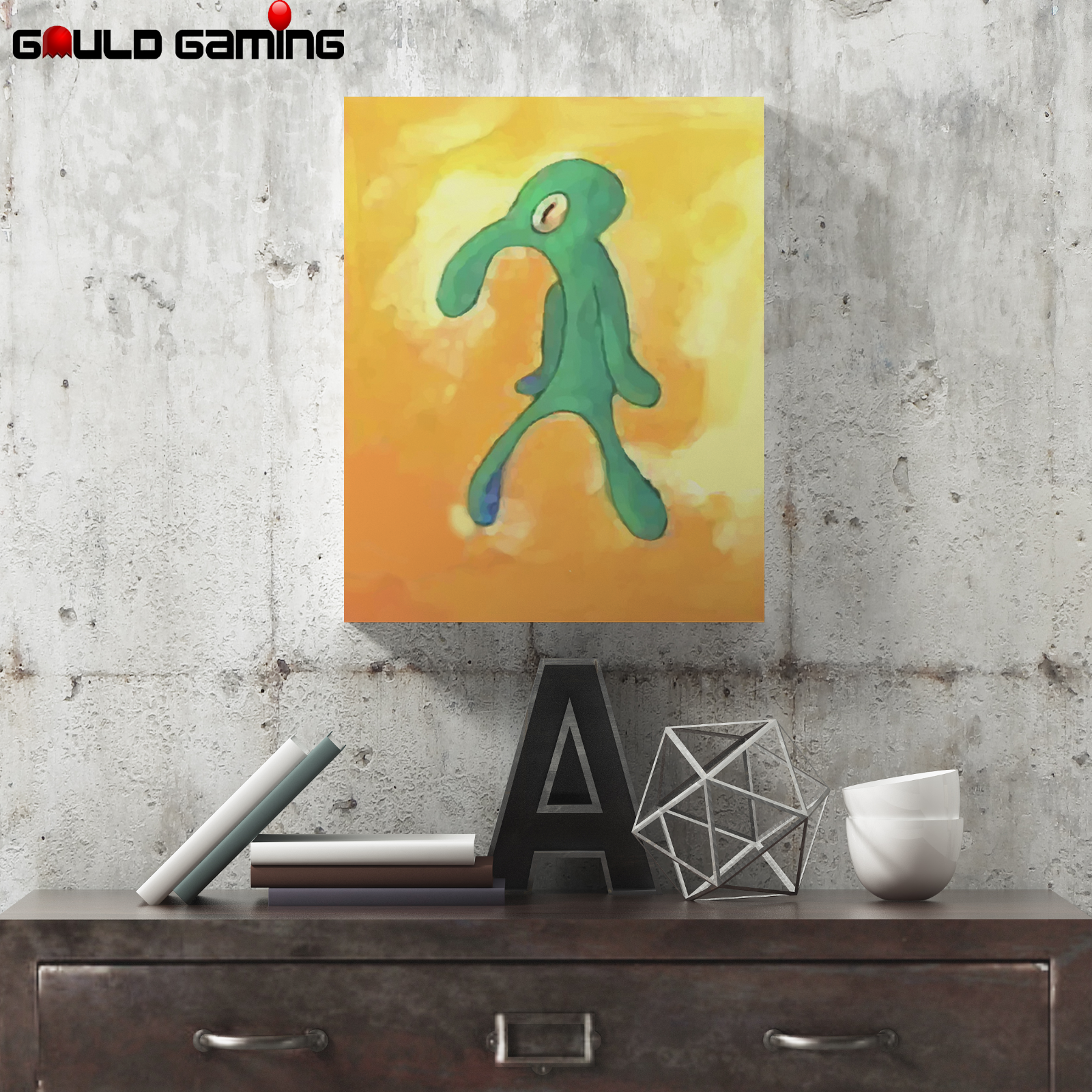 Bold and Brash Squidward Canvas Art Painting Wall Prints Decor Gifts Spongebob 2